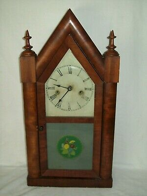 Antique ~ Gothic Cathedral ~ Pendulum Mantle Clock ~ Working Condition !