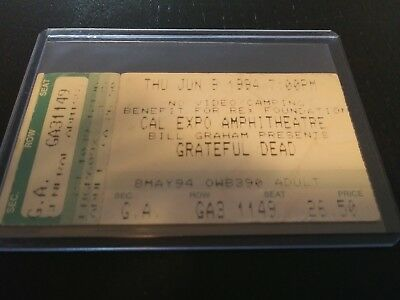Grateful Dead Ticket Stub, Cal Expo, 06/09/1994