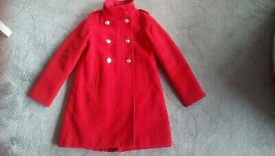 Girls Next red military style coat age 10