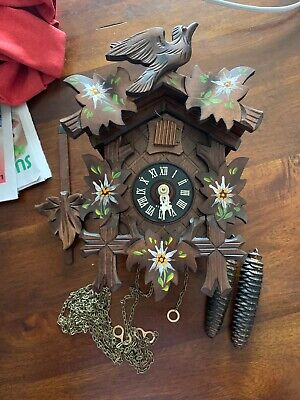 Vintage Black Forest CUCKOO CLOCK  MADE In Germany Excellent Workn Regula Look