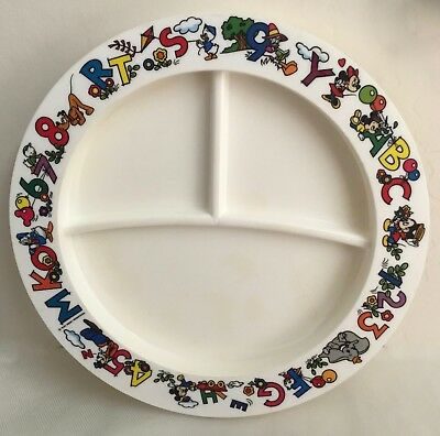 "Disney ""ABC-1 2 3""  Divided Baby Plate/Dish"