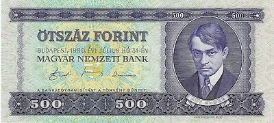 Hungary, 1990 500 Forint P-175a  ((Unc))
