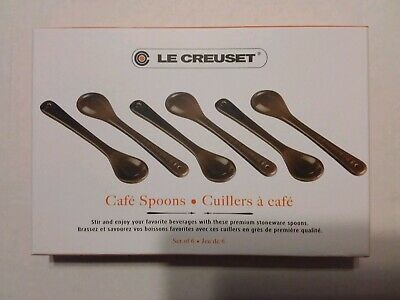 Le Creuset Set Of 6 Cafe Spoons - Cerise (Red) NEW