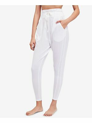 FREE PEOPLE $98 Womens New 1645 White Pocketed Tie Harem Pants XS B+B