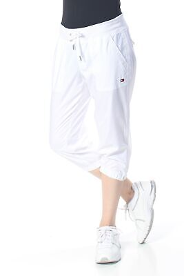 TOMMY HILFIGER Womens New 1965 White Pocketed Drawstring Waist Capri Pants S B+B