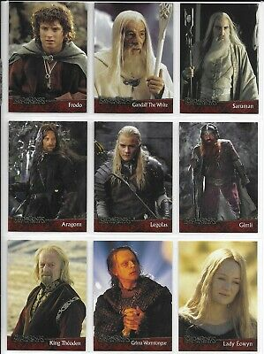 Topps LORD OF THE RINGS TWO TOWERS 90 Card BASE Set + P1,P3 + 3 Wrappers 2002