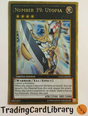 NUMBER 39 UTOPIA GOLD RARE LIMITED EDITION NEAR MINT GLD5-EN036 YU-GI-OH