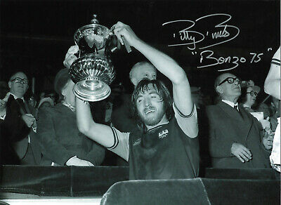 Billy Bonds West Ham signed 16 x 12 inch authentic football photograph SS677