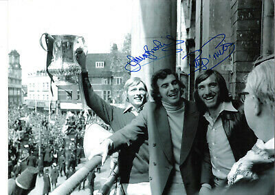 Billy Bonds Trevor Brooking West Ham signed authentic football photograph SS678