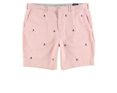 BNWT Polo Ralph Lauren Straight Classic Fit Cotton Pink Shorts 32