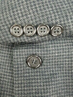 Brooks Brothers Gray & Black Houndstooth Plaid Blazer 40 R Wool Cashmere
