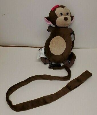 Eddie Bauer Plush Childrens Girl Monkey Harness Buddy Safety Leash Backpack