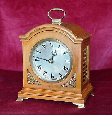 Antique Quality Small Walnut Bracket Clock in Working Condition