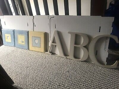 Lambs & Ivy Wooden Pictures & Pottery Barn Letters