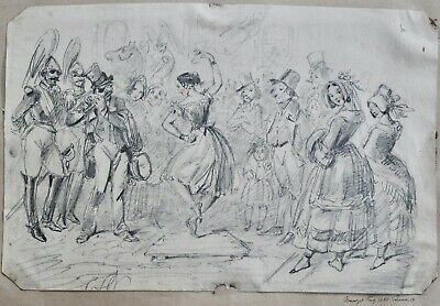 George Cruikshank dancer drawing