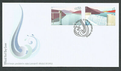Cyprus Stamps 2020 Water reservoirs and dams Official FDC low postage.