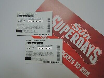 2 Alton Towers Tickets FAST RESPONSE