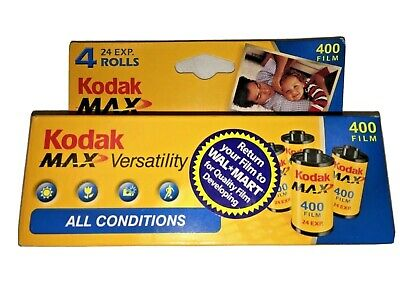 Kodak MAX 35mm 400 Film ISO 400/27 Versatility All Conditions 4 Roll Pack NOS 07