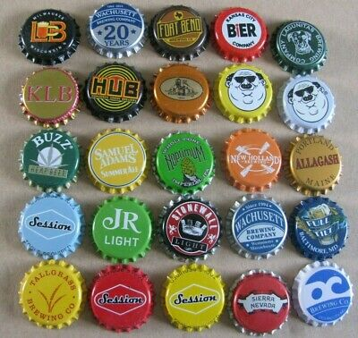 25 Different Unused Mostly Micro Craft Beer Caps  Obsolete &  Current  Lot 3