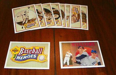 1992 Upper Deck Ted Williams Heroes 10-Card Insert Set