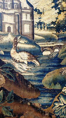 An Antique Verdure Tapestry with Duck