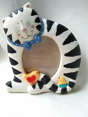 Cat Frame by Sylvesti. Black & white striped cat w/ bowtie