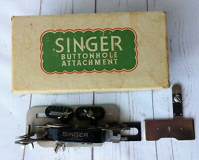 Vintage Singer Sewing Machine Button Hole Buttonhole Attachment #121795