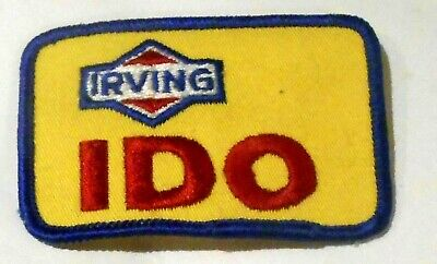 "Irving Gasoline Patch Embroidered Oil 3"" inches Original ""I Do"""