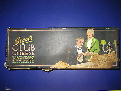Vintage Carrs & Co. Ltd Club Cheese biscuits 1920s black paper label tin England