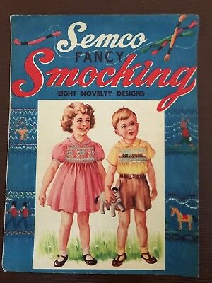 VINTAGE SEMCO FANCY SMOCKING BOOKLET c1920s 8 novelty designs