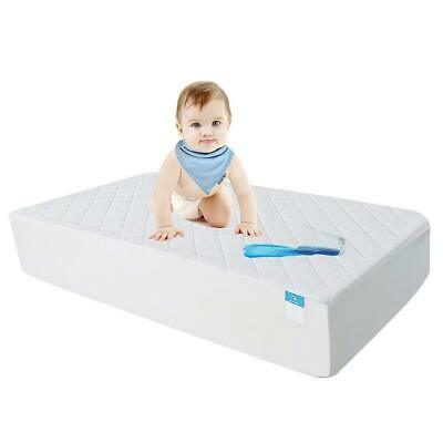 Crib Mattress Protector, Baby Waterproof Organic Bamboo Quilted Fitted Cover 28'