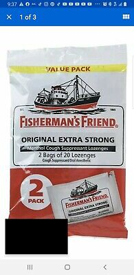 Fishermans Friend Extra Strong Menthol Cough Suppressant 40ct 7/2021