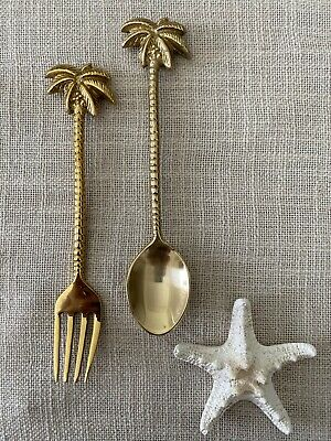 Brass Palm Tree Spoon or Fork-BRAND NEW 16cm - $15 EACH (sold separately)