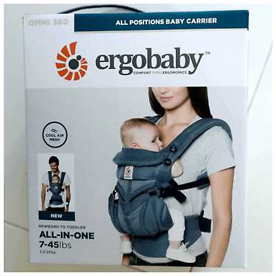 ERGOBABY 360 OMNI COOL AIR MESH ERGO BABY Carrier Oxford Blue Colour.