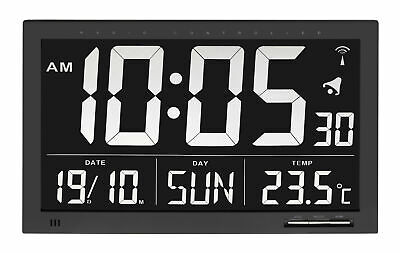 NEW Black Rectangular Alarm Clock in Black- ATW Australia,Clocks