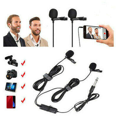 BOYA BY-M1DM Dual-Head Microphone Collar Clip Long-line For Phone DSLR Camcorder