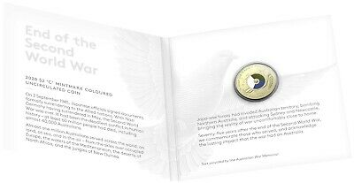 2020 Anniversary End of WWII (WW2) - $2 coin  - 'C' mintmark carded   ..... a