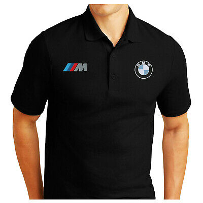 M-Power Bmw Logo Embroidered Classic Polo Shirt Workwear Outdoor Sport Birthday