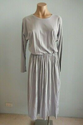 Kowtow NEW Long Sleeve Light Grey Building Block Dancer Dress sz XS S M $159