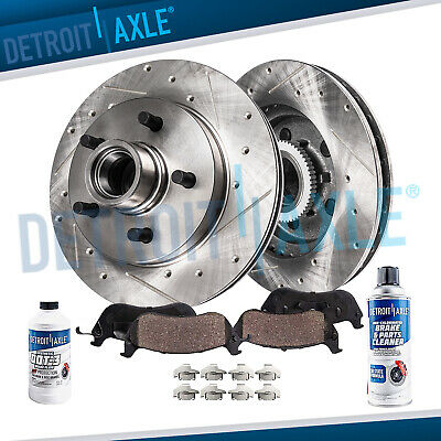 Front Set Drill And Slot Brake Rotors For Ford Explorer Ranger Mountaineer 2WD