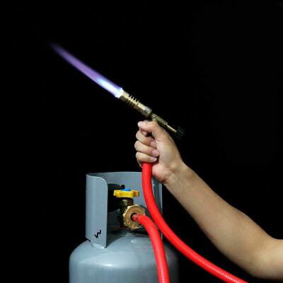 Mapp#Gas Self Ignition Plumbing Turbo Torch With Hose Solder Propane Welding Kit