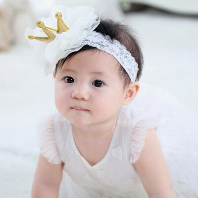 Ee_ Newborn Baby Girl Lace Crown Headband Infant Toddler Hair Band Headwear Nice