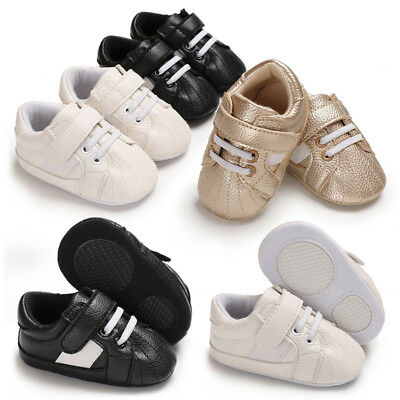 EE_ EG_ Newborn Baby Infant Faux Leather Soft Anti-slip Prewalker Toddler Shoes