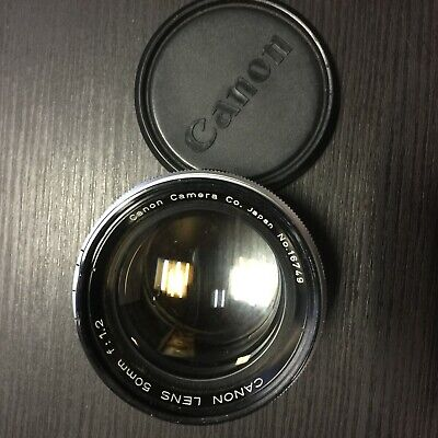 Canon 50mm f/1.2 f1.2 Lens, For Leica Screw L39 M39 Mount