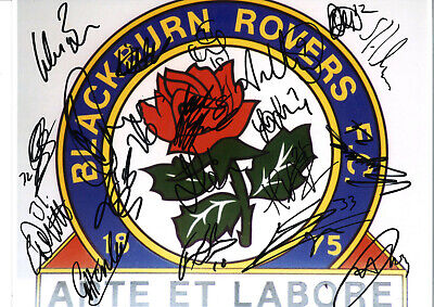 Blackburn Rovers 2011 Squad Signed 16x12 authentic football photograph SS725A