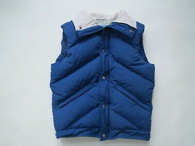 Eastern Mountain Sports Blue Quilted Down Puffer Ski Vest Vtg Outerwear Men's M