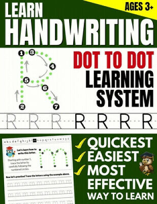 Learn Handwriting: Dot to Dot Practice Print book (Trace Letters Of The