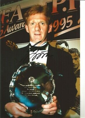 Gordon Strachan Leeds United Signed 12 x 8 authentic football photograph SS746