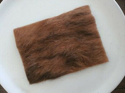 Genuine Hair on Cowhide Leather Pieces Leather Cuts Sheets Brown Long Hair Hide