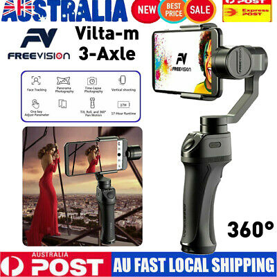 Freevision VILTA 3-Axis Handheld Stabilizer Gimbal for Phones&Actions Cameras AU